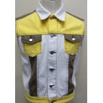 Colour Blocked Denim Vest (14A)
