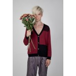 V-Neck Long Sleeve Knitted Cardigan(6B)